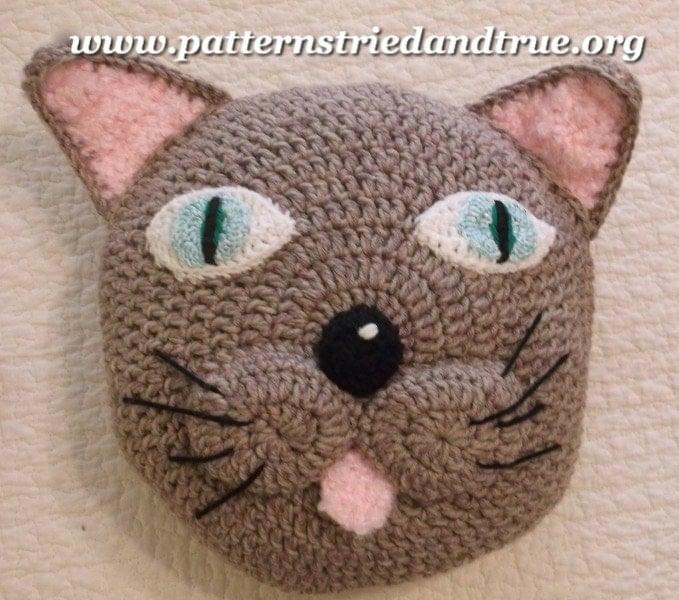 Cat Pillow Crochet Pattern Black Cat Cat Lover Sculpted Cat