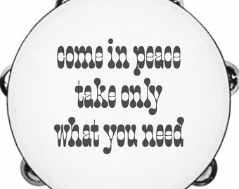 Poetry Tambourine Wall Hanging
