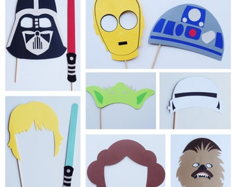 Disney Star Wars Photo Booth Props ; Star Wars Birthday Party Decor ; Disney Photo Props ; Darth Vader ; Star Wars Decoration