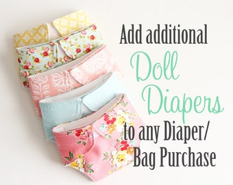 Doll Diapers/Baby Doll Diapers/Doll Bag Add-On