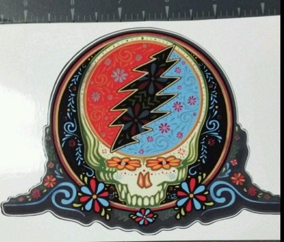 Grateful Dead Inspired Steal Your Face Sugar Skull Company
