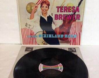 Teresa Brewer and The Dixieland Band Vintage Vinyl Record Album LP 1958 Coral Decca Records CRL 757245