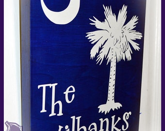 SC Palmetto Tree Personlized Wall Hanging