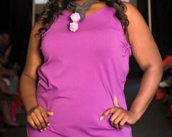 Purple Sheath Dress