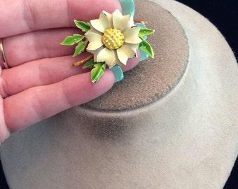 Vintage 3D Enameled Floral Pin