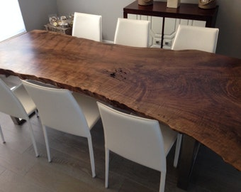 Live Edge Dining Table - Live Edge Table - Wood Slab Dining Table - Live Edge Slab Dining Table - Wood Slab Table - Wood Dining Table (27)