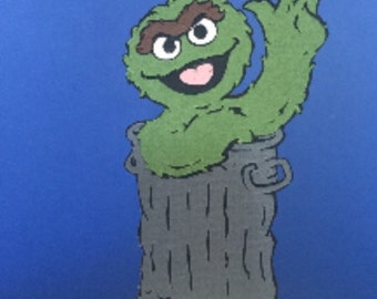 Oscar the Grouch Cupcake Topper
