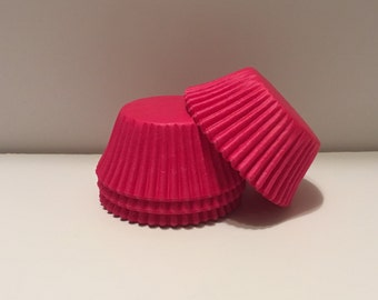 75 count - Grease Resistant Bright Pink standard size cupcake liners/baking cups