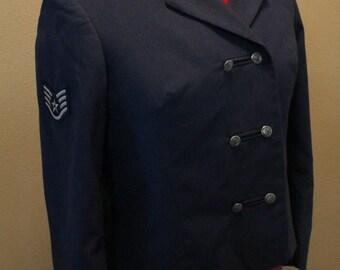 Vintage, Military Jacket, USAF, Women's Dress Mess Jacket, Air Force Jacket, Vintage Coat, Vintage Military