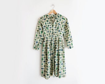1940's Print Dress // Extra Small