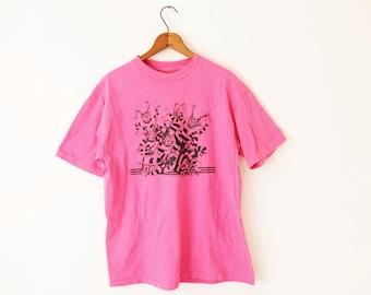 LARGE Vintage  1986 Mimes Graphic T-Shirt