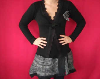 Reserved for Holly One of a kind  Wool Refashioned Tunic Dress