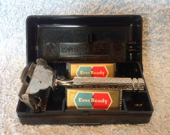 1912 Patent Ever Ready Flip Top SE Safety Razor & Case. Men's Retro Safety Razor. Men's Shaving. Vintage Shaving.