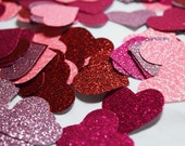 Romantic Glitter 1 Inch Heart Confetti, Fun Ways To Decorate Valentines Day Bridal Baby Wedding Shower Birthday Party, Photo Prop Engagement