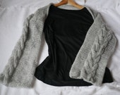 SALE!!! Hand knit shrug Summer Shrug Loose Knit Mohair Cropped Shrug in gray color