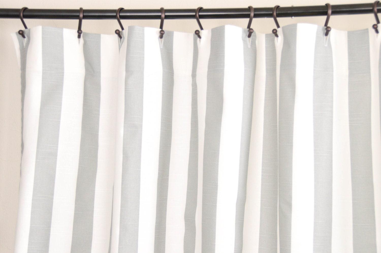 Fabric Shower Curtain Stripe Ash 72 Width X
