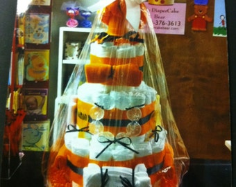 3 tier basketball diaper cake