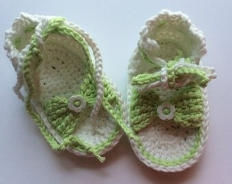 Crochet Baby Sandals, Newborn Flip Flops , Baby Girl Sandals, Baby  Shoes , Baby Photo Prop, Newborn Sandals, Girls Shoes, RTS