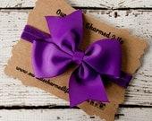 Purple Headband, 4 Inch Hair Bow, Purple Hair Bow, Baby Headband, Infant Headband, Toddler Headband, Bow Headband, Headband with Bow