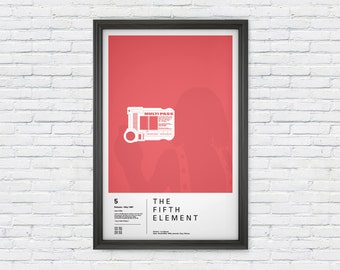 The Fifth Element Poster Print - Leeloo Dallas Multi Pass