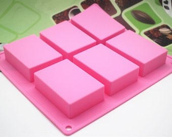 Flexible Silicone Square Cake Soap Mould For Fimo Resin Crafts