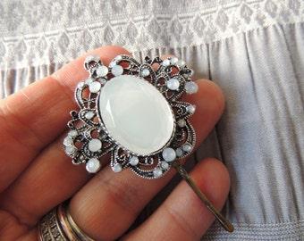 Royal vintage Crystal Hair Pin Decorative Original Bridal Hairpin Silver Clip, Vintage Bobby Pins Vintage Clips Wedding Pin