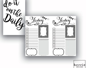 Traveler's Notebook Pocket Daily Printable Pages