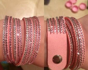 Pink wrap around bracelet