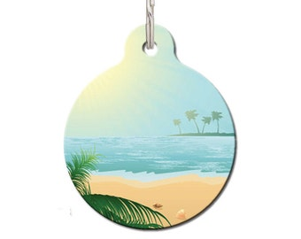 Vacation Pet Tag - Seascape Pet ID Tag | FREE Personalization