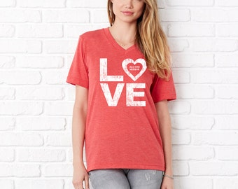 All You Need is LOVE v-neck T-shirt for Valentines Day