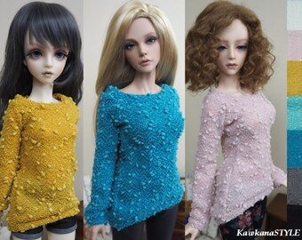 Kawkana - Lose Fit Sweather, Tunic, Blouse with sequins, Longer Back for SD, SD16, SD+, Super Gem, Iplehouse SID 1/3 dollfie - Many colors