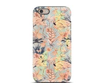 iPhone 7 Case, iPhone 6 Case, iPhone 5 Case, iPhone 6s Plus case, iPhone 6s tough case, iPhone 6 tough case, iPhone 5s tough case - Flamingo