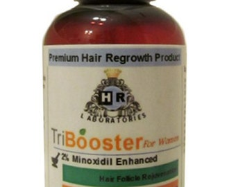 Tribooster for Women No PG: 2% Minoxidil Enhanced with Coenzyme Q10, Biotin, Vitamin, Amino Acids for Hair Loss / Thinning / Hair Regrowth.