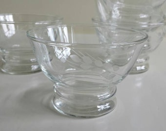 Antique drinking glasses, set of five