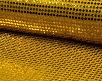 6mm Sparkling Sequin Fabric Material Glitter Sparkle - 6mm sequins - 115cm wide GOLD
