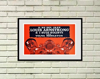 Reprint of the vintage music poster - Louis Armstrong