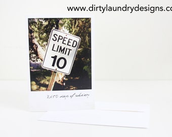 10 Years Of Sobriety Greeting card DL43- 10 Years