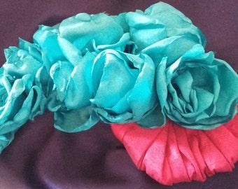 romantic flower headdress