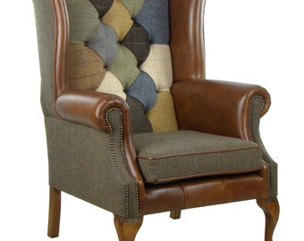 Patchwork McKenzie Harris Tweed Armchair
