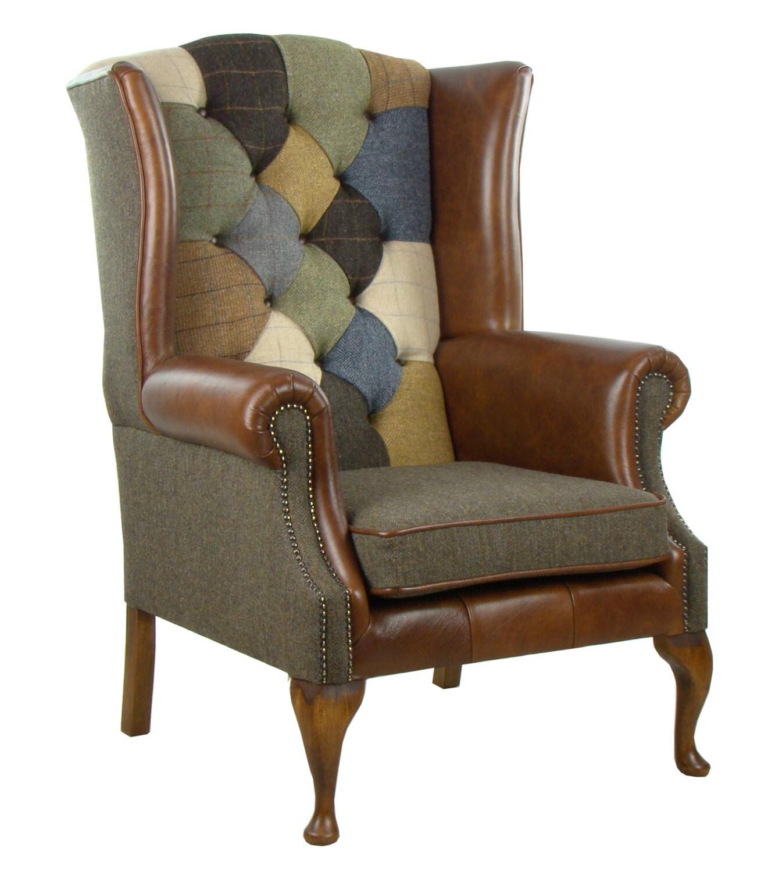 fauteuil de harris tweed patchwork mckenzie. Black Bedroom Furniture Sets. Home Design Ideas