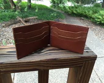 Bi-fold Leather Mens Vintage Wallet - 8 Cards - Classic Wallet