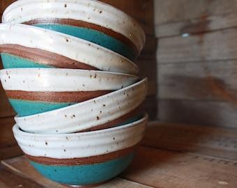 Bowl Set - Made to Order Bowls - Cereal Bowls - Salad Bowls - KJ Pottery