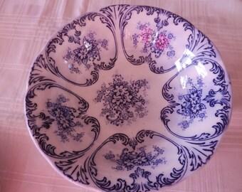 Serving bowl - Flow Blue - Cobalt - Libertas Prussia