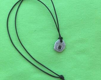 Deer Track Engraved Antler Necklace