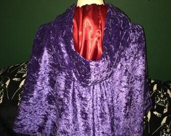 Velvet cape/ short cloak