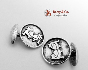 SaLe! sALe! Hand Made Mexican Round Cuff Links Sterling Silver