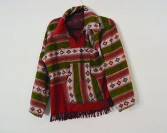 1970s boho poncho - Baja hoodie