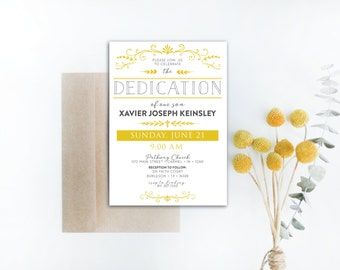 INSTANT DOWNLOAD dedication invitation / baby dedication invitation / gender neutral dedication / religious invitation / DIY invitation