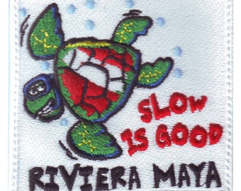 Scuba Riviera Maya Embroidered Patch