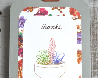 No. 202: Pretty Succulents Thank You Card